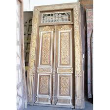 antique french colonial painted pine double door eron johnson