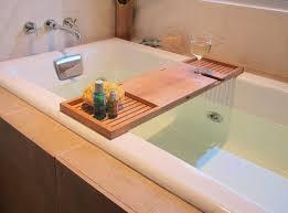 Teak Wood Bathroom Teak Wood Bathtub Reading Tray And Food Tray With Wine Holder For