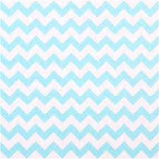 chevron pattern in blue white riley blake knit fabric with aqua blue chevron pattern knit