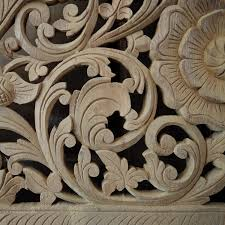carved bed panel wall decor siam sawadee