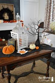 Fox Home Decor Boo A Halloween Mantel At The Cottage Fox Hollow Cottage