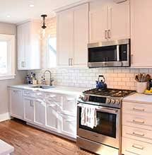 how to clean kitchen craft white cabinets small kitchen renovation masterbrand cabinets