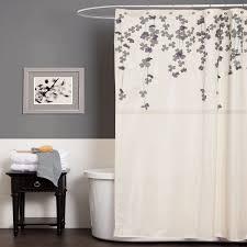 Plum Flower Curtains Lush Decor Flower Drop Ivory Purple Shower Curtain Home Bed