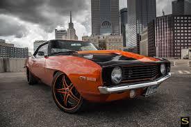badass camaro 1969 chevy camaro forged black di forza bs1 savini wheels