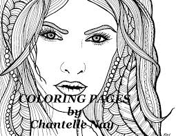 morgana coloring woman face coloring picture