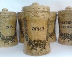 cute kitchen canisters primitive canister set ebay with cute