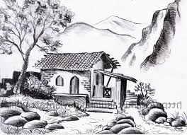 pencil drawing landscapes pencil drawings of scenery pencil sketch