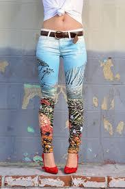 Pattern Jeans Tumblr | jeans tumblr colorful patterns pants tumblr girl tumblr clothes