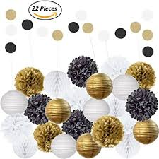 black and gold centerpieces amazing 22pcs mixed black gold white party