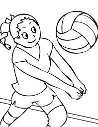 girls volleyball team coloring download u0026 print