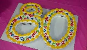 80th birthday cupcakes