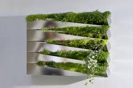 Garden Wall Troughs by Stainless Steel Vase Miroir En Herbe By Compagnie Design Jean