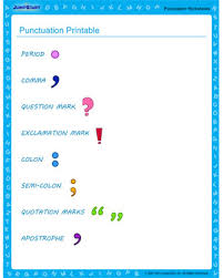 punctuation printable u2013 free worksheet to teach punctuation