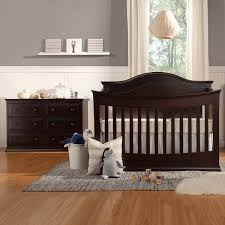 Bertini Pembrooke 4 In 1 Convertible Crib Natural Rustic by Dark Wood Crib Cool Nursery Furniture Set High Quality Solid Wood