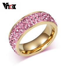 black crystal rings images 3 row crystal stainless steel ring pink blue white green jpeg