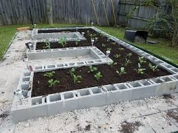 Making A Raised Bed Garden From Roof Panels Build A Concrete Block Garden For Food And Memories