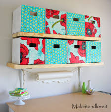 craft room part 1 covered cardboard storage boxes make it and
