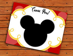 mickey mouse thank you cards mickey mouse thank you cards and yellow printable