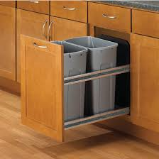 built in trash can cabinet recycling cabinets kitchen pull out built in trash cans cabinet
