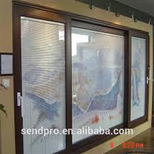 high praise best price aluminum 3 panel sliding glass door 3 track