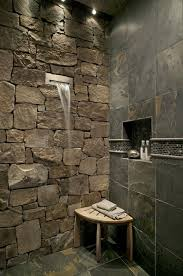 natural stone bathroom designs large mirror elegant wall ceiling