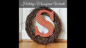 inspired monogram wreath tutorial
