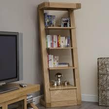 Narrow Bookcases Uk Z Shape Solid Oak 1 Drawer Narrow Bookcase Oak Furniture Uk