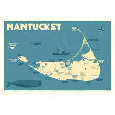 Massachusetts Map Nantucket Map Alan Claude