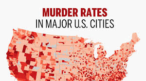 Crime Map United States by 30 Major U S Areas With The Highest Murder Rates National News