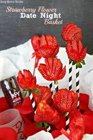 Date Night Basket Strawberry Flower Date Night Basket Busy Mom U0027s Helper