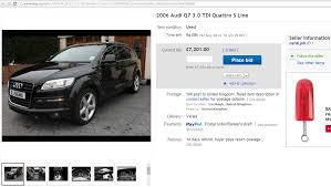 audi ebay scam fraud on ebay uk 2006 audi q7 3 0 tdi quattro s line