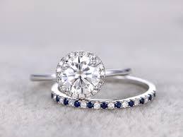 sapphire and wedding band blue sapphire white gold wedding band anniversary ring bezel