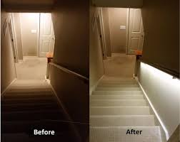 led strip lights for stairs stair lighting solution with led strips