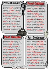 printable worksheets english tenses key ghost story in present and past tenses english pinterest