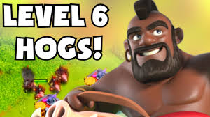 clash of clans hog rider clash of clans update new level 6 hog riders lvl 5 valkyries