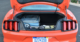 mustang trunk space 2016 ford mustang premium ecoboost cargo space photos gallery