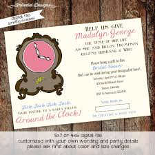 around the clock bridal shower around the clock bridal shower invitation baby shower invitation