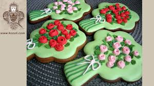 how to make cookie bouquets for mothers day rose flower cookies