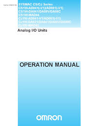 w345 e1 06 cs cj 1w io units operation manual electromagnetic