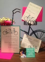 Custom Designed Wedding Invitations Custom Wedding Invitations Willow Springs Bicycle Paper Designs
