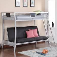 full size loft bed with futon below metal bunk bed with futon