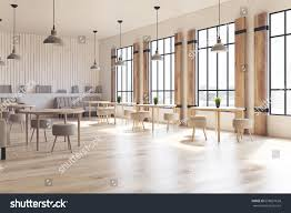 interior concrete walls side view modern cafe interior concrete stock illustration
