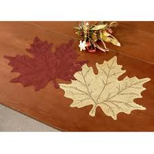 falling leaves autumn placemat set of 4
