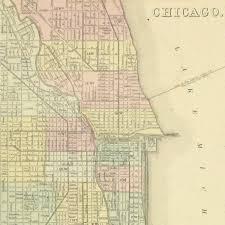 chicago map map chicago 1867 original antique maps prints