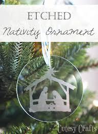 diy etched nativity ornament cutesy crafts