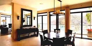 curtain ideas for dining room with dark wood floors wood floors