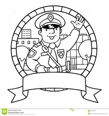 funny policeman coloring book stock illustration image 68217653