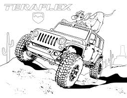 safari jeep cartoon gallery u0027teraflex jeep coloring pages u0027 teraflex