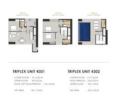 Triplex Floor Plans Terhab Hotel And Towers Dubai Manazil Real Estate