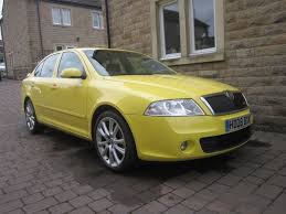 skoda octavia 2 0 tdi pd vrs 2008 yellow manual 5 door in